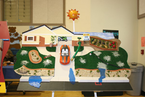 Photo of one of the water waste displays used in teaching good water use habits to kids.