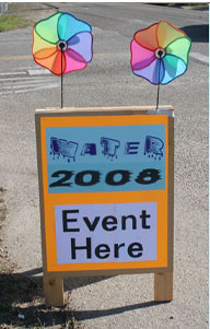Photo of event sign