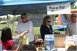Jill Falcone's SLO Partners for Water Quality booth was very popular with the kids