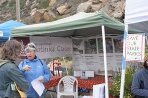 Booth for san Luis Obispo Botannical Garden.